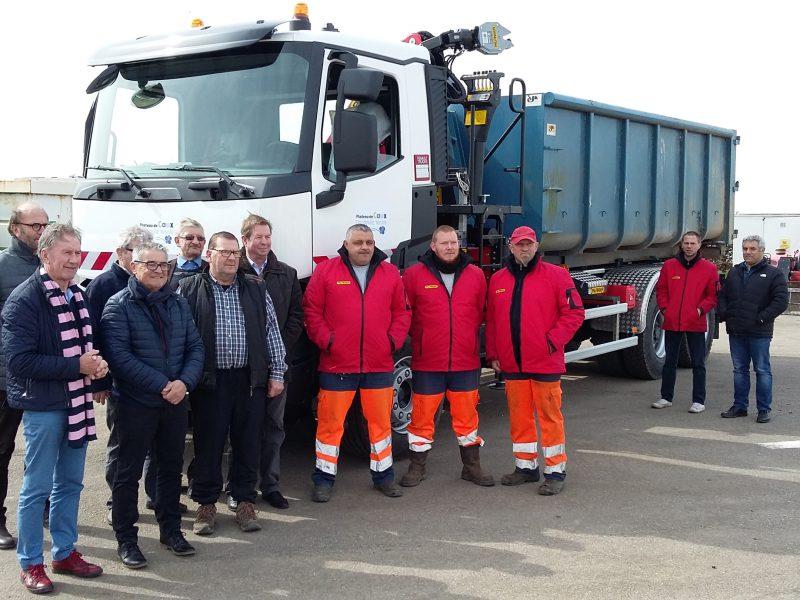 Un camion flambant neuf pour le service Environnement