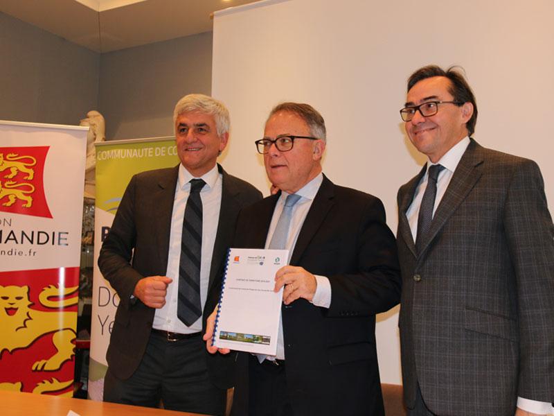 La Région et le Département de la Seine-Maritime accompagnent les projets du territoire de la Communauté de Communes