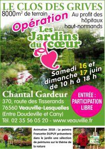 Les jardins du coeur au Château de Galleville